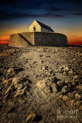 Photograph - St Cwyfan Church Sunset by Adrian Evans