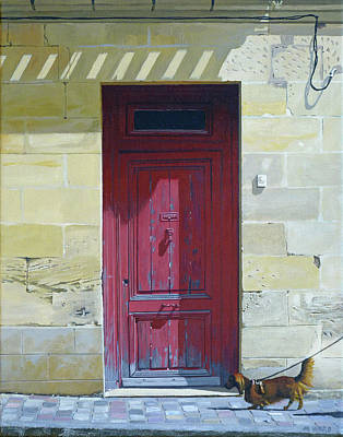 Christmas Trees - St. Emilion Door by Michael Ward