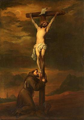 St Francis At The Foot Of The Cross Art Print