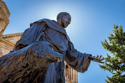 Photograph - St. Francis Of Assisi Statue by Tim Stanley