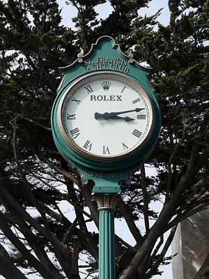 Photograph - St Francis Yacht Club Clock by Richard Reeve