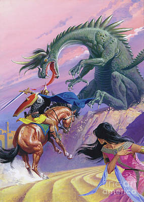 Painting - St George And The Dragon  by Severino Baraldi