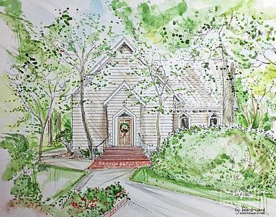 Mixed Media - St George's Independant School Chapel  Germantown Tn by Lizi Beard-Ward
