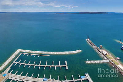Royalty-Free and Rights-Managed Images - St Ignace Aerial by Twenty Two North Photography