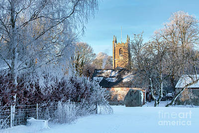 Photograph - St James Church Avebury In The Snow by Tim Gainey