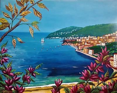 Painting - St. Jean Cap Ferrat, French Riviera by Jean Pierre Bergoeing