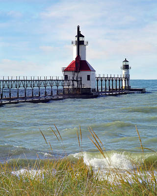 Photograph - St. Joe, Michigan Lighthouse by Kathi Mirto
