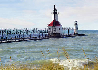 Photograph - St. Joe Michigan Lighthouse by Kathi Mirto