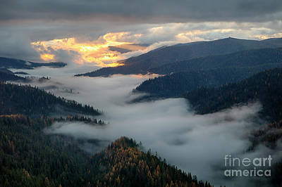 Photograph - St. Joe Morning Mists by Idaho Scenic Images Linda Lantzy