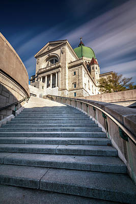 Photograph - St Joseph Oratory Stairway Montreal by Pierre Leclerc Photography