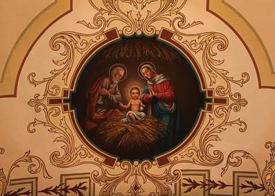 Photograph - St. Louis Cathedral Nativity Scene by Debi Dalio