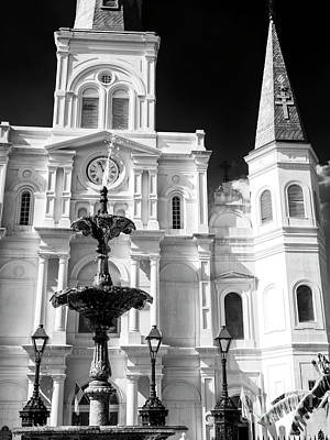 Photograph - St. Louis Cathedral Profile New Orleans by John Rizzuto