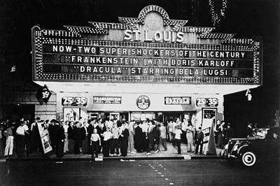 Photograph - St Louis Cinemaplex, Circa 1930 by Archive Holdings Inc.
