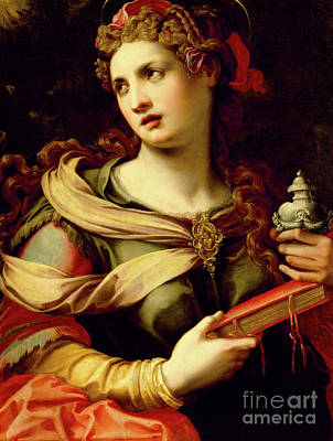 Painting - St Mary Magdalene, 1560s by Michele di Ridolfo Tosini