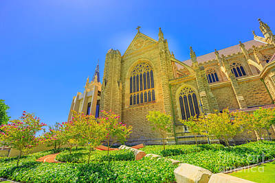 Photograph - St Marys Cathedral by Benny Marty