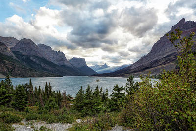 Photograph - St Mary's Lake And Wild Goose Island by Belinda Greb