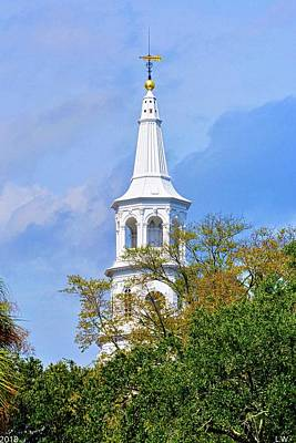 Photograph - St. Michael Episcopal Church Steeple by Lisa Wooten