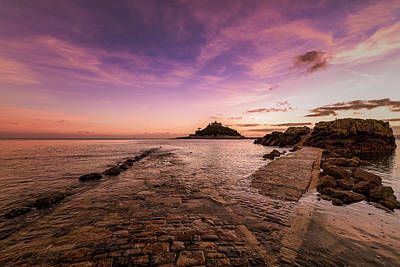Photograph - St Michael's Mount - January by Eddy Kinol