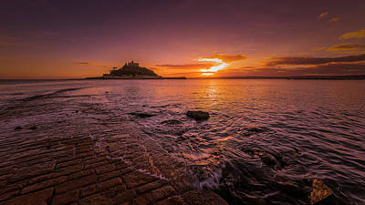 Photograph - St Michael's Mount - January Sunset by Eddy Kinol