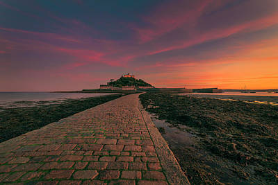 St Michael's Mount Sunset Art Print
