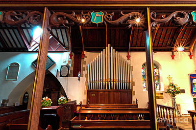 Photograph - St Mylor Organ by Terri Waters