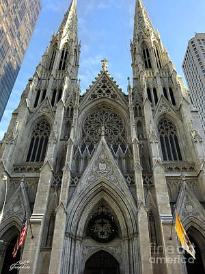 Photograph - St Patricks Cathedral Nyc by CAC Graphics