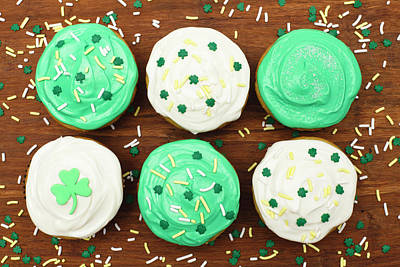 Photograph - St. Patricks Cupcakes by Dustypixel