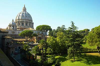 Photograph - St. Peters Basilica, Vatican City by Roger De La Harpe