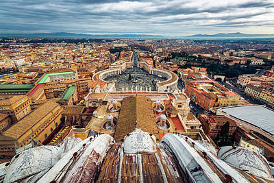 Photograph - St Peter's Square From Top Of The Basilica by ProPeak Photography