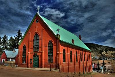 Photograph - St. Victor's Catholic Church by Tony Baca