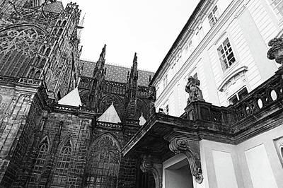 Photograph - St Vitus Cathedral Architecture Details. Prague Castle by Jenny Rainbow