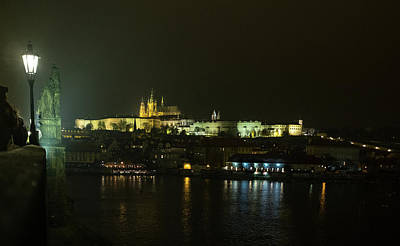 Photograph - St. Vitus Cathedral At Night by Mark Duehmig