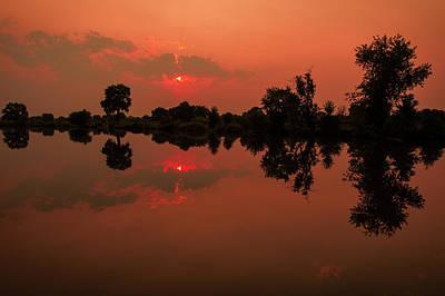 Photograph - St. Vrain Sunset by Gary Lengyel