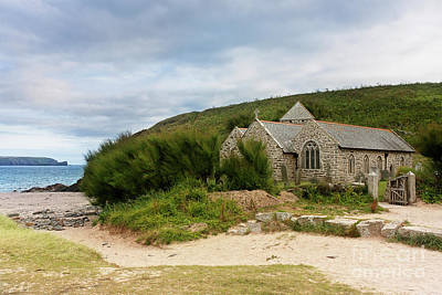 Photograph - St Wynwallow Church Gunwalloe, Cornwall by Terri Waters
