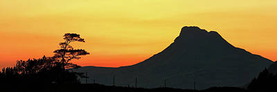 Photograph - Stac Polly Mountain Sunset by Grant Glendinning