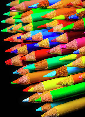 Photograph - Stack Of Colored Pencils by Garry Gay