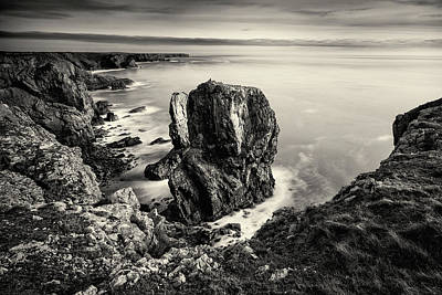 Elliott Coleman Royalty-Free and Rights-Managed Images - Stack Rocks - Black and White by Elliott Coleman