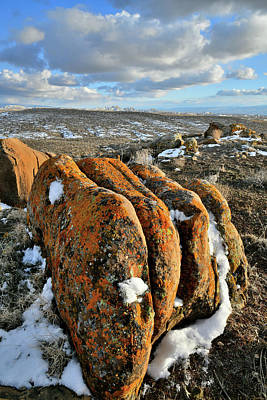 Photograph - Stacked Beautiful Boulders In Book Cliffs Desert by Ray Mathis