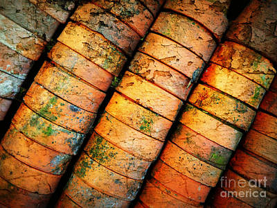Photograph - Stacked Terra Cotta Pots by Carol Groenen