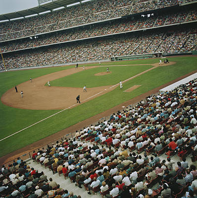 Photograph - Stadium Full Of People Watching by Tom Kelley Archive