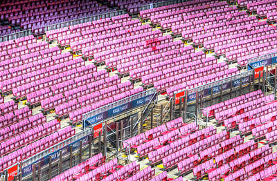 Royalty-Free and Rights-Managed Images - Stadium Seating Nou Camp by David Pyatt