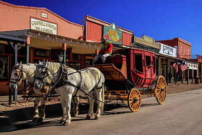 Photograph - Stagecoach, Tombstone by Dawn Richards