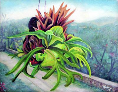 Painting - Staghorn Fern by Ewan McAnuff