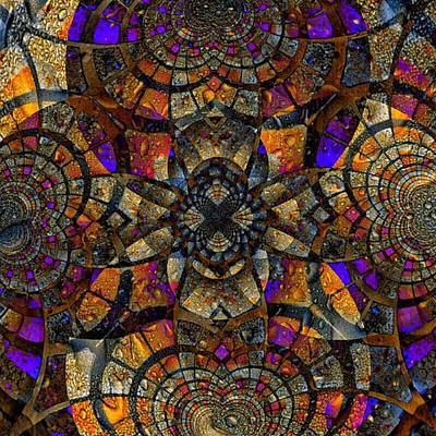 Meditation Digital Art - Stained Glass by Nick Heap