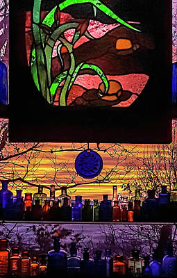 Photograph - Stained Glass Sunrise by Lara Ellis