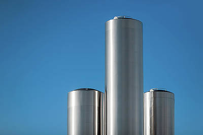 Photograph - Stainless Steel Tanks by Todd Klassy