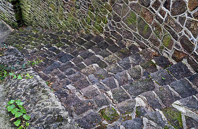 Photograph - Stairs And Wall At Old Stone Bridge by Gary Slawsky