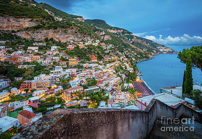 Photograph - Stairs Down To Positano by Inge Johnsson