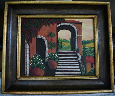 Painting - Mediterranean Entrance by Gloria Johnson