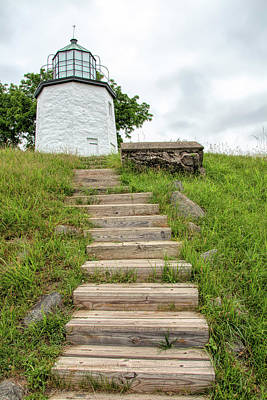 Photograph - Stairs To Stony Point Lighthouse by Kristia Adams